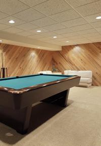 gameroom basement