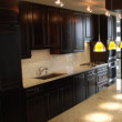 The kitchen in a D.C. condo remodel