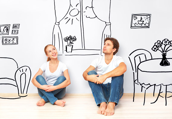couple imagining new home renovation project