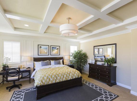 open spacious bedroom