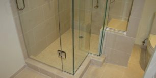 master shower with bench seat