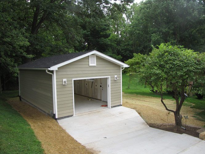 Garage for Cost to build a single car garage